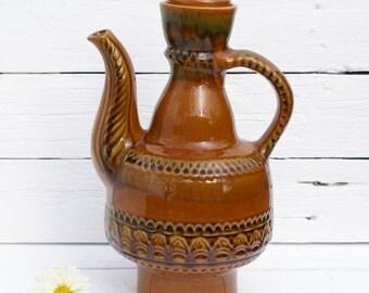 Large Vintage Soviet  Ukrainian ceramic  Pitcher ,Shabby Chic home decor, Ukranian style, vintage collectible, soviet porcelain