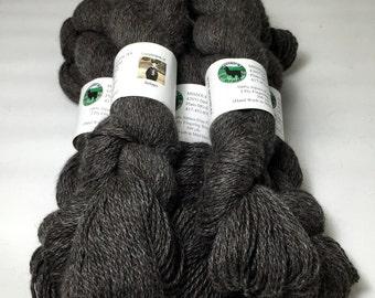 Baby Alpaca Yarn, Dark Grey Finger Weight