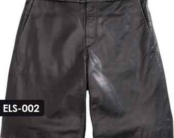 Genuine Soft Lambskin Leather Bermuda Shorts