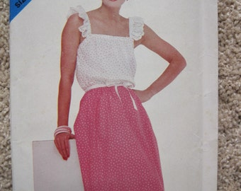 UNCUT Misses Top and Skirt - Butterick Pattern 5035
