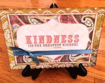 Thank You Kindness handmade greeting card