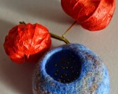 Sky Blue Pod Brooch - Wool Felt - Handmade in Scotland