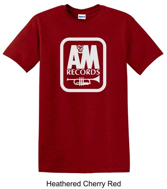 A m vintage record label tee shirt long live vinyl by for Vintage record company t shirts