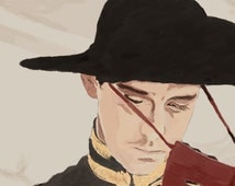 The Fall Masked Bandit Lee Pace Illustration Luster Print - 4 x 6.5