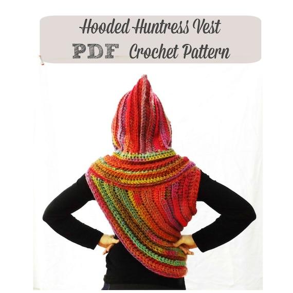Excepcional Patrón Capucha Chaleco Crochet Cresta - Ideas de ...