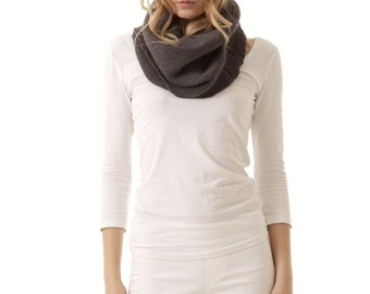 ETIENNE Chunky knit ribbed cowl