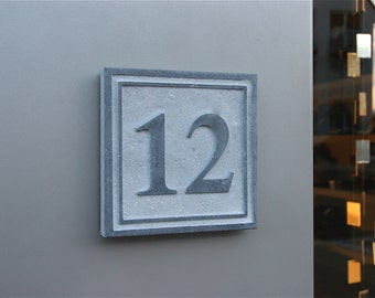Outdoor House Number Square 4