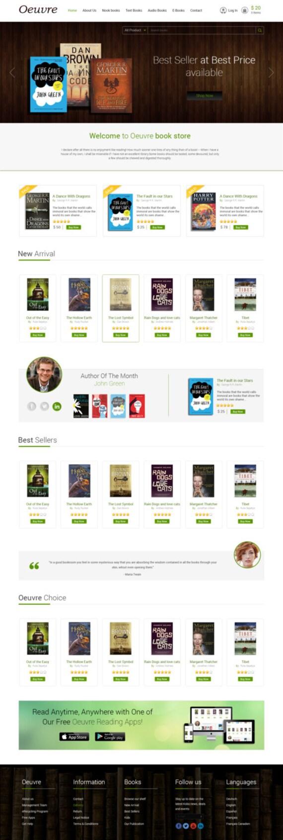 Bookstore eCommerce Website eCommerce Template Online