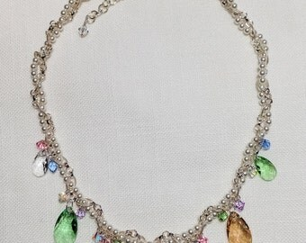 Crystal Necklace for Bridal and Formal Events