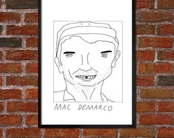 Badly Drawn Mac DeMarco - Poster