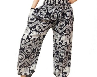 Comfy Yoga Pants Wide Leg Pants Elephant Strips (YG01-4)
