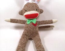 Easter Bunny Sock Monkey Doll,  Easter Sock Bunny, Easter Bunny, Easter Decorations, Easter Gift, Easter Bunny Ears, Easter Egg Hunt