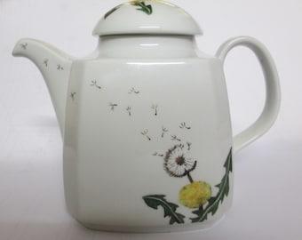 CeramicTeapot Hand-painted Dandelion Style