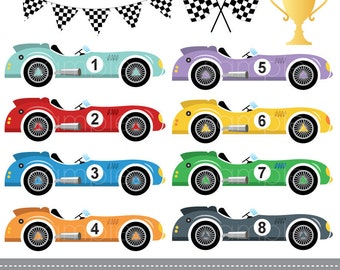 Racing Car Clipart Etsy