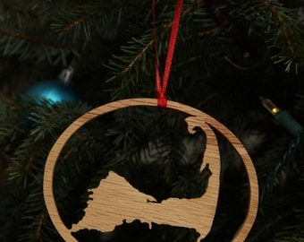 Cape Cod Massachusetts Christmas Ornament