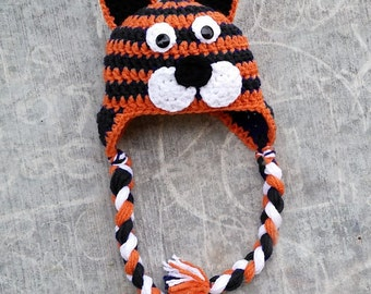 PATTERN: Tiger hat for all ages newborn to adult