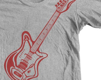 Guitar Shirt GUITAR GIFTS ELECTRIC Guitar Clothing Guitar Player Woodstock 60's clothes Eko Electric 7000 4V Oliviero Pigini Rock & Roll Tee