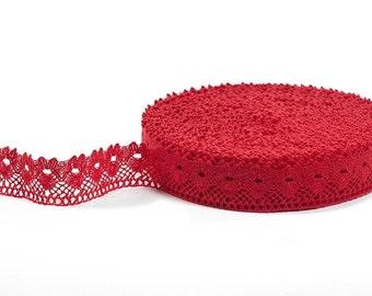 RED Linen Lace - Linen Lace Trim