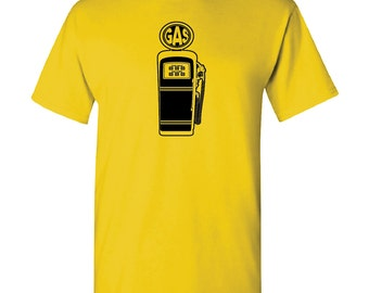 Cool Retro Gas Pump Automobilia Custom Printed T-Shirt