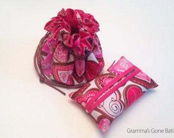 Jewelry Pouch and Tissue Holder - Valentine's Day Love