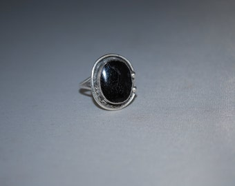 Sterling silver onyx ring size 6.5