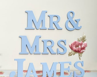 Personalised 'Mr & Mrs' Letters