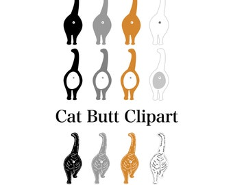 Cat Butt Clipart Cat Butts Cat Butt Clip Art Cat