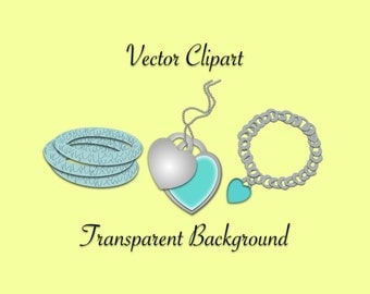 Jewelry Clip Art - Bracelet Clipart, Charm Clipart, Necklace Clipart, Heart Clipart, Bangle Clipart, Jewelry Clip Art, Jewelry Illustration
