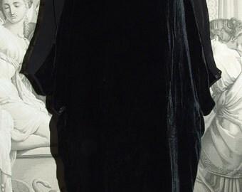 ACNE Authentic Vintage c.1990s Black Velvet Dress/ Vintage ACNE oryginal dress/ Vintage Fashionable ACNE Evening Coctail Dress