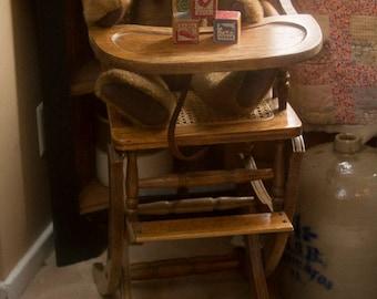 Vintage Victorian High Chair Rocker