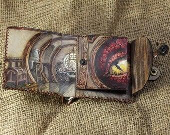 Leather wallet Hobbit