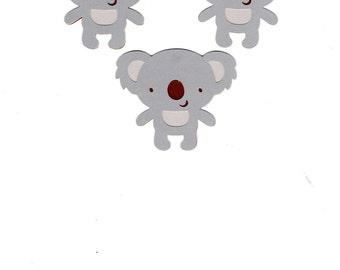 Koala die cut piece set of 3