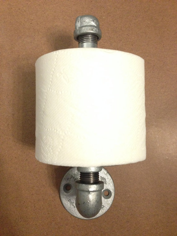 industrial styled wall mounted vertical toilet paper holder. Black Bedroom Furniture Sets. Home Design Ideas