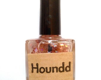 Poodle - Pink Star Nail Polish - Handmade Indie Polish 10ml by Houndd Nails