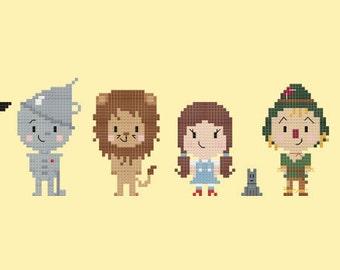 Wizard of Oz Cross-stitch Pattern