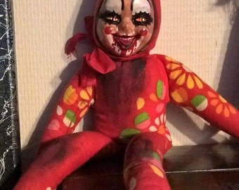 Andy the Evil Clown : horror doll