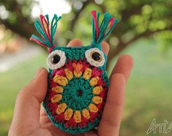 Colourful Amigurumi Owls