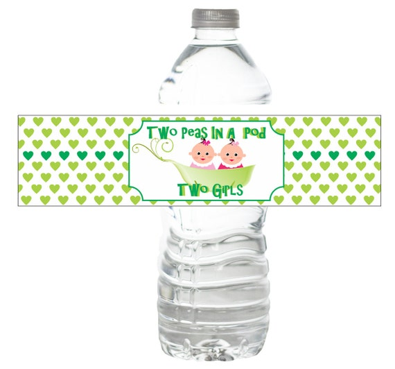 Personalized Water Bottle Labels Baby Shower By