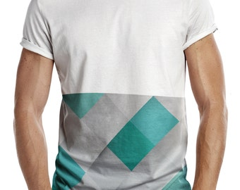 Distinkt Youth Diamond Pattern Print Mens Fashion T Shirt Swag Dope Hipster