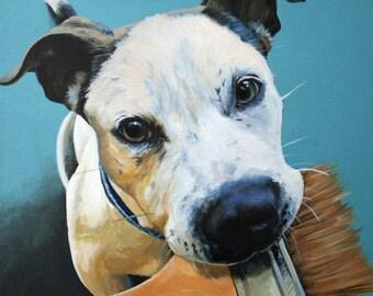 10x10 Custom Acrylic Pet Portrait of your Furry Friend.