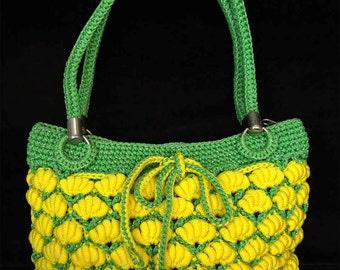 Banana Crochet Handle bags Banana Handbag Yellow Handbag Yellow Purse Yellow Tote Yellow Handbag Fruits Bags (N14)