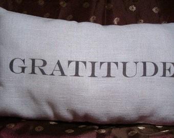 Handmade Positive Affirmation Pillows, Gratitude Pillows