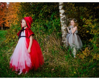 Little Red Riding Hood cape for girls sizes 6-12