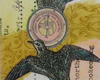 Original ACEO - Birds Of A Feather