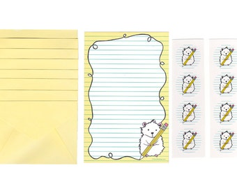 Hamster Stationery Set