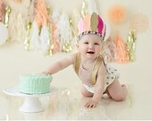 Glitter Feather Crown smash cake photoshoot
