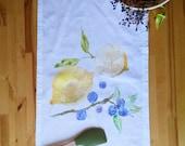 Lemon and Blueberry Tea-towel