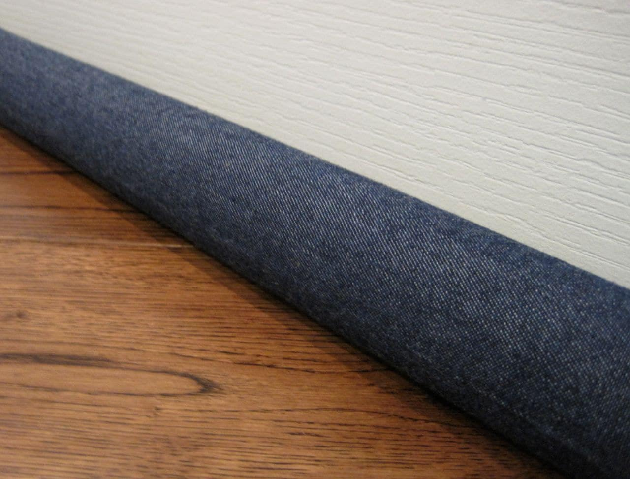 Custom length draft stopper denim door draft snake draft for Door draft stopper
