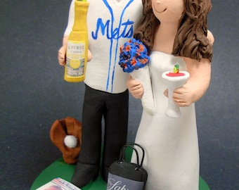 New York Mets Baseball Wedding Cake Topper, Baseball Team Wedding Cake Topper, Mets Jersey Wedding Cake Topper, Baseball Wedding CakeTopper