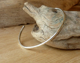 Narrow Hammered Cuff - Sterling Silver